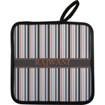 Gray Stripes Pot Holder (Personalized)