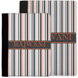 Gray Stripes Notebook Padfolio w/ Name or Text