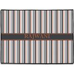 Gray Stripes Door Mat (Personalized)