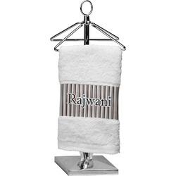 Gray Stripes Finger Tip Towel (Personalized)