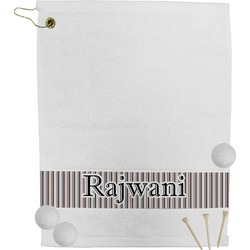 Gray Stripes Golf Towel (Personalized)