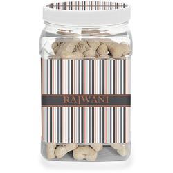 Gray Stripes Dog Treat Jar (Personalized)