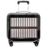 Gray Stripes Pilot / Flight Suitcase (Personalized)
