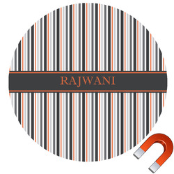 Gray Stripes Car Magnet (Personalized)