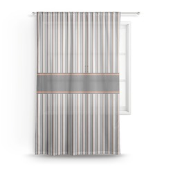 Gray Stripes Sheer Curtains (Personalized)
