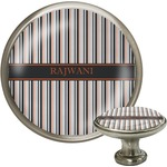 Gray Stripes Cabinet Knobs (Personalized)
