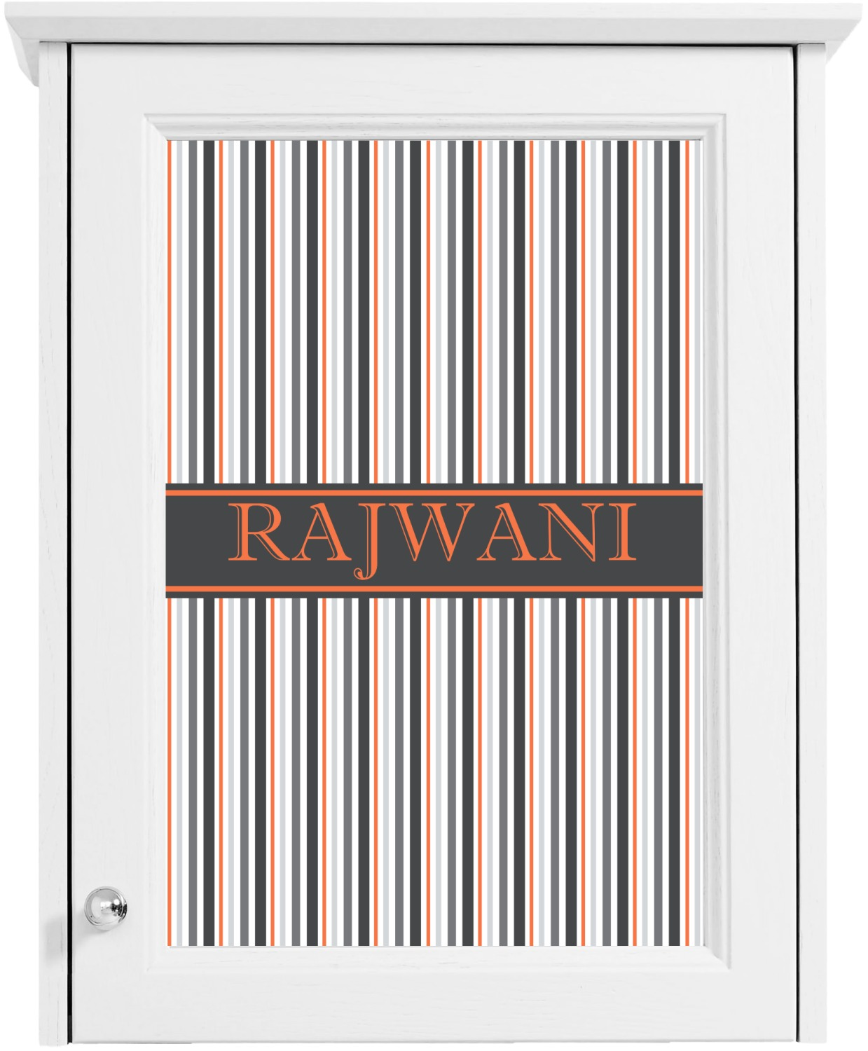 gray stripes cabinet decal large personalized With kitchen colors with white cabinets with monogram sticker maker