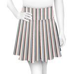 Gray Stripes Skater Skirt (Personalized)