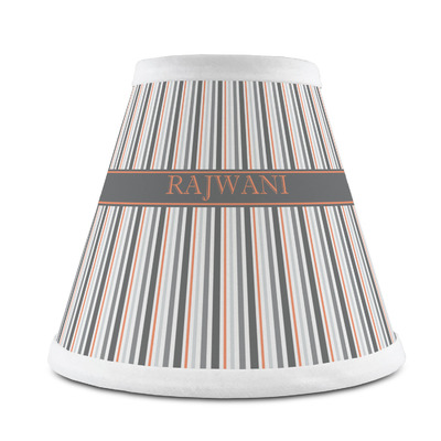 Gray Stripes Chandelier Lamp Shade (Personalized)