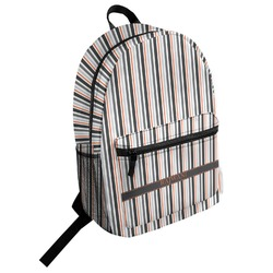 Gray Stripes Student Backpack (Personalized)