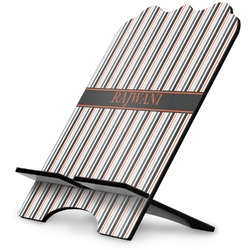 Gray Stripes Stylized Tablet Stand (Personalized)