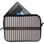 Gray Stripes Tablet Case / Sleeve (Personalized)