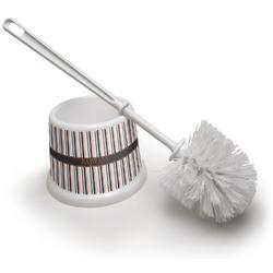 Gray Stripes Toilet Brush (Personalized)