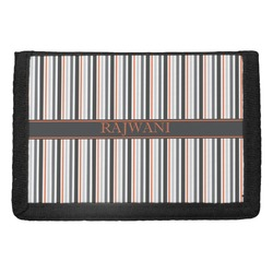 Gray Stripes Trifold Wallet (Personalized)