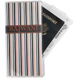 Gray Stripes Travel Document Holder