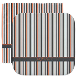 Gray Stripes Facecloth / Wash Cloth (Personalized)