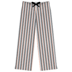 Gray Stripes Womens Pajama Pants - XL (Personalized)