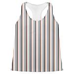 Gray Stripes Womens Racerback Tank Top (Personalized)