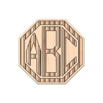 Gray Stripes Genuine Maple or Cherry Wood Sticker (Personalized)