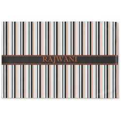 Gray Stripes Woven Mat (Personalized)