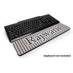 Gray Stripes Keyboard Wrist Rest (Personalized)