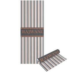Gray Stripes Yoga Mat - Printed Front and Back (Personalized)
