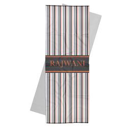 Gray Stripes Yoga Mat Towel (Personalized)