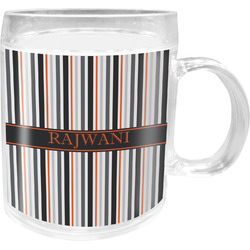 Gray Stripes Acrylic Kids Mug (Personalized)