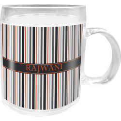 Gray Stripes Acrylic Kids Mug (Personalized)