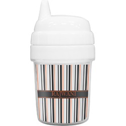 Gray Stripes Baby Sippy Cup (Personalized)