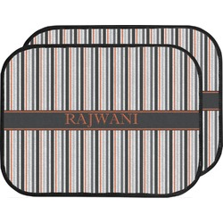 Gray Stripes Car Floor Mats (Back Seat) (Personalized)
