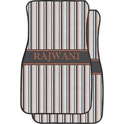 Gray Stripes Car Floor Mats (Front Seat) (Personalized)