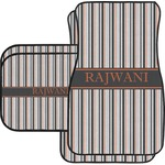 Gray Stripes Car Floor Mats (Personalized)