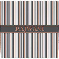 Gray Stripes Ceramic Tile Hot Pad (Personalized)
