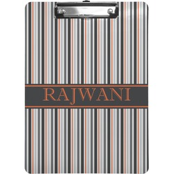 Gray Stripes Clipboard (Personalized)