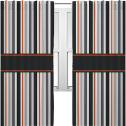 Gray Stripes Curtains (2 Panels Per Set) (Personalized)
