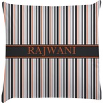 Gray Stripes Decorative Pillow Case (Personalized)