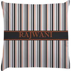 Gray Stripes Decorative Pillow Case (Personalized)