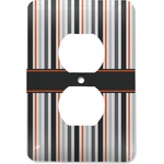 Gray Stripes Electric Outlet Plate (Personalized)