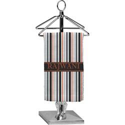 Gray Stripes Finger Tip Towel - Full Print (Personalized)