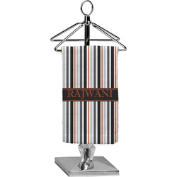Gray Stripes Finger Tip Towel - Full Print (Personalized)