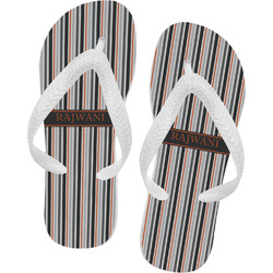 Gray Stripes Flip Flops (Personalized)