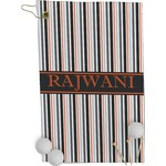 Gray Stripes Golf Towel - Full Print (Personalized)