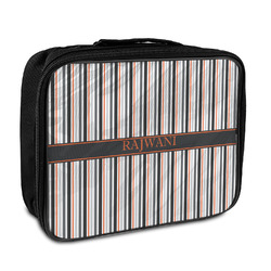 Gray Stripes Insulated Lunch Bag (Personalized)