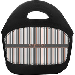 Gray Stripes Toddler Lunch Tote (Personalized)