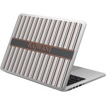 Gray Stripes Laptop Skin - Custom Sized (Personalized)