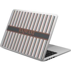 Gray Stripes Laptop Skin - Custom Sized (Personalized)