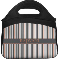 Gray Stripes Lunch Tote (Personalized)