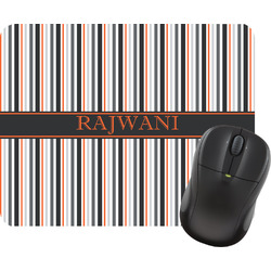 Gray Stripes Mouse Pad (Personalized)