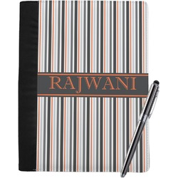 Gray Stripes Notebook Padfolio (Personalized)